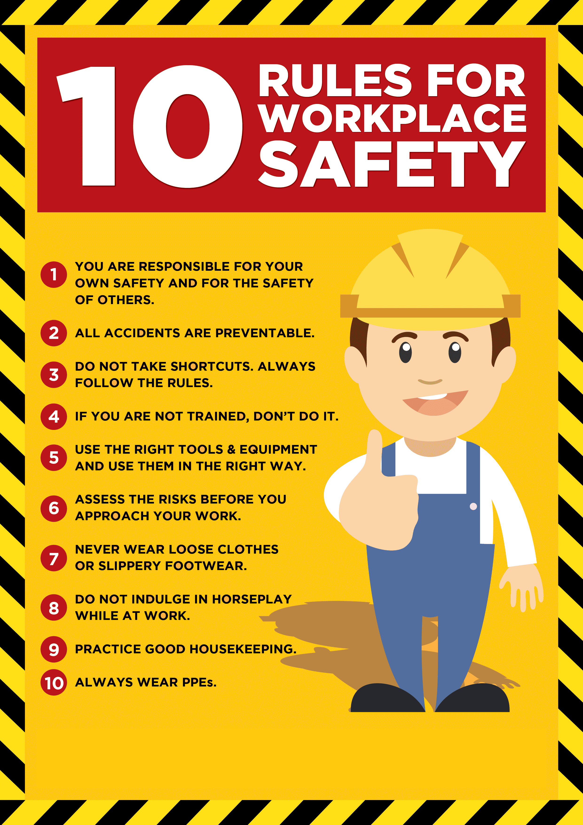 10 Rules for Workplace Safety | McKay Law