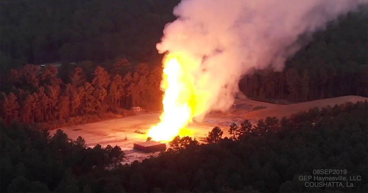 Explosión del pozo de gas fracked Louisiana | Ley McKay